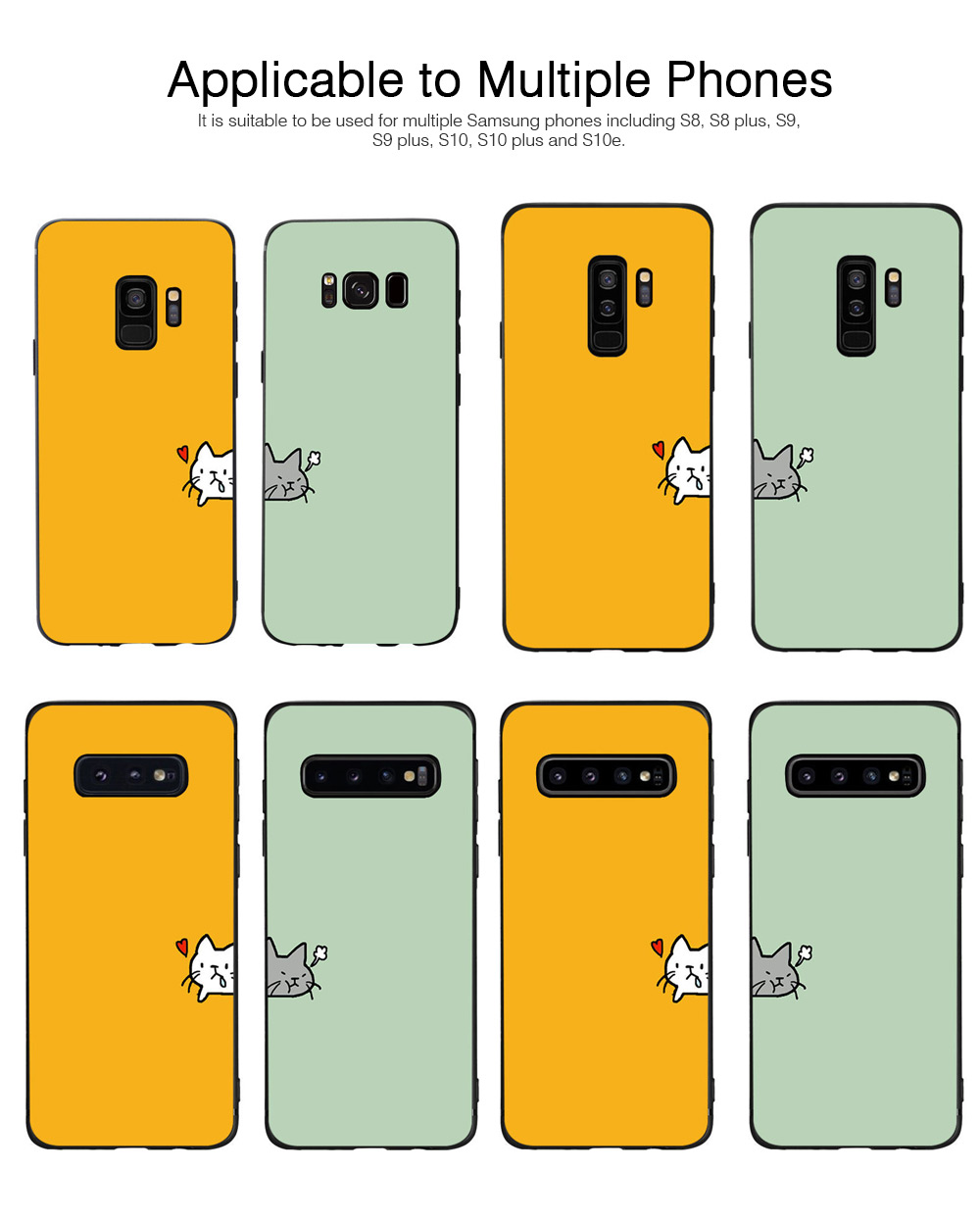 Soft Phone Case for Galaxy S9 Plus, Silicone S10 Plus Protective Phone Case S8 Plus Color Painted Phone Case 5