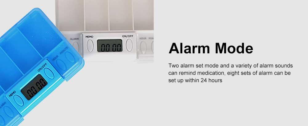 Electronic Pill Dispenser Timer Alarm Pill Box Organizer 4 Compartments Medicine Box 2