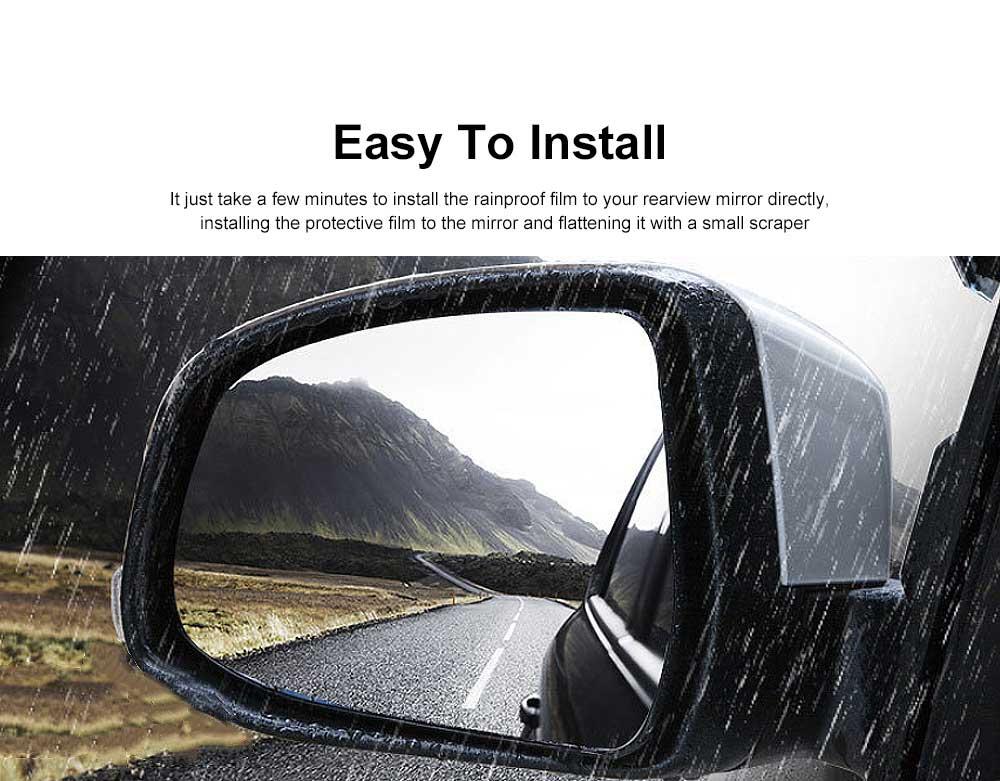 Car Rearview Mirror Protective Film Waterproof Film Anti-Fog HD Anti-Glare Clear Protective Film for Audi A3 A4L A5 A6L Q3 Q5 Q7 1