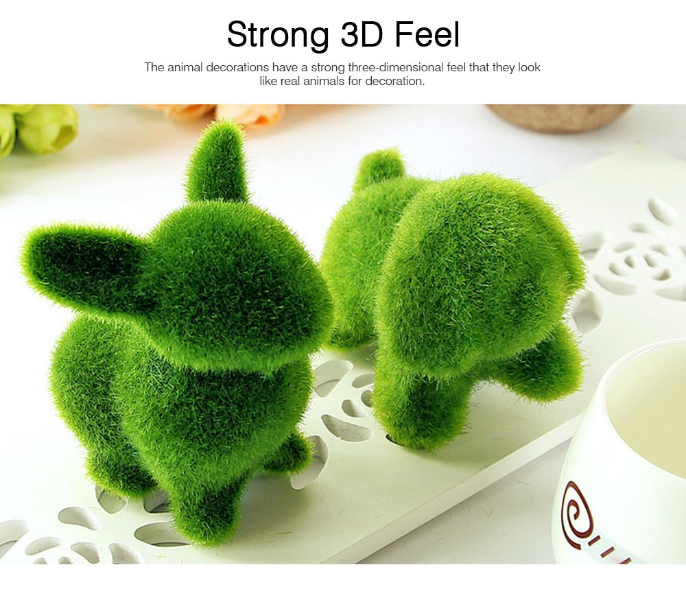 Simulated-grass-made Animal Decorations for Wedding Desktop Creative Animal Decorations for Party Animal Decorations Safari Party Supplies 3