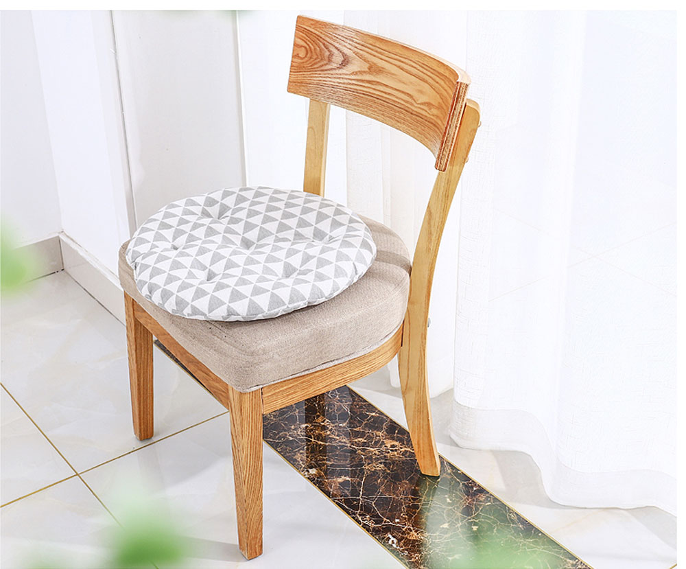 Cotton & Lien Cushion for Office Chair Round Keeping Warm Thickened Cushion for Winter Use Tatami Floor Cushion 6