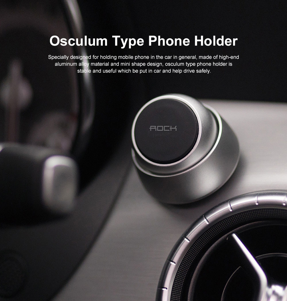 ROCK Phone Holder for Car, Multi-functional Osculum Type Phone Holder for Iphone, Huawei, MIUI 0