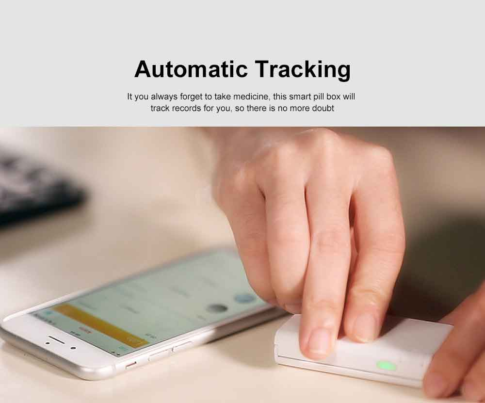 Mini Bluetooth Electronic Pill Box Audio Smart Pill Reminder Automatic Medication Records Medicine Organizer 3