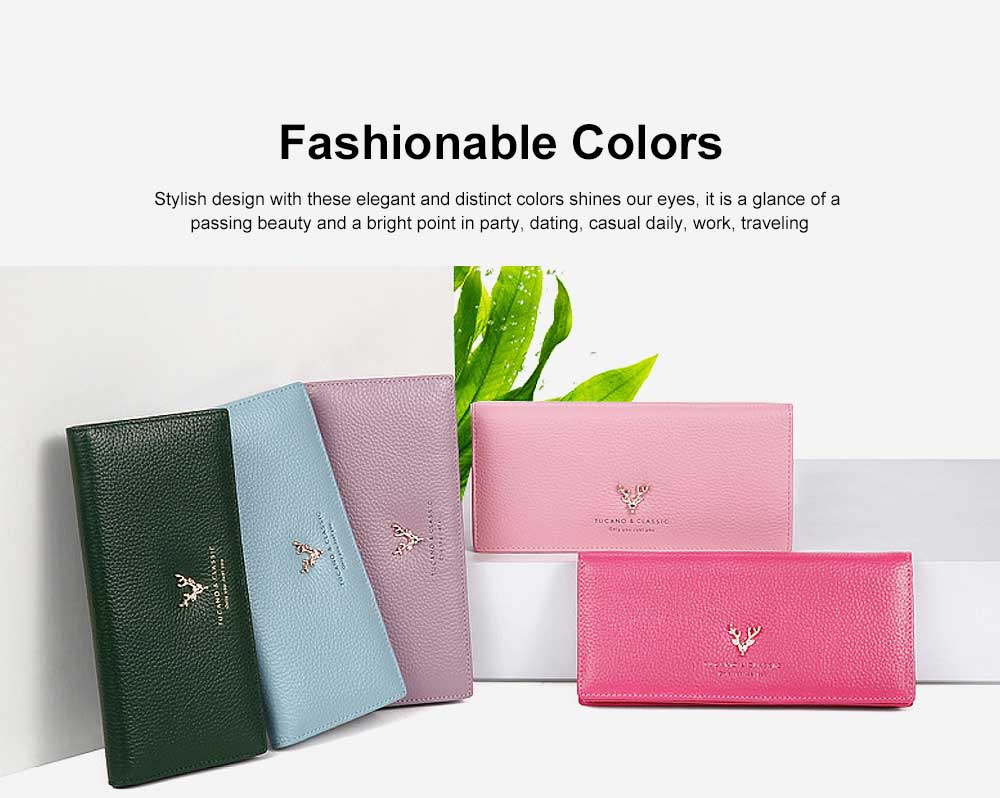 Women's Clutch with RFID Blocking Real Leather Zipper Multipurpose Purse Large Long Travel Purse 5