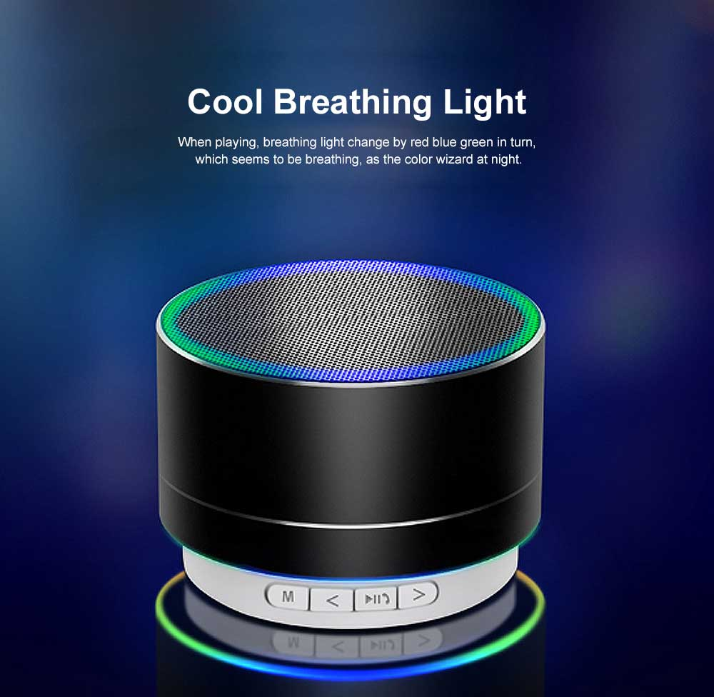 Metal Blue-tooth Sound Box, Subwoofer Mini Sound Box, Support TF Card Bluetooth Speaker 3