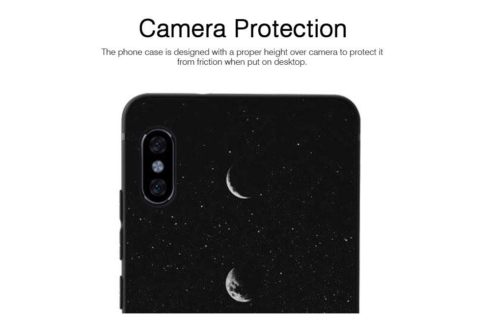 Soft Silicone Phone Case for Xiaomi 8, Color-Painted Moon Change Pattern Xiaomi 6X Phone Case 3