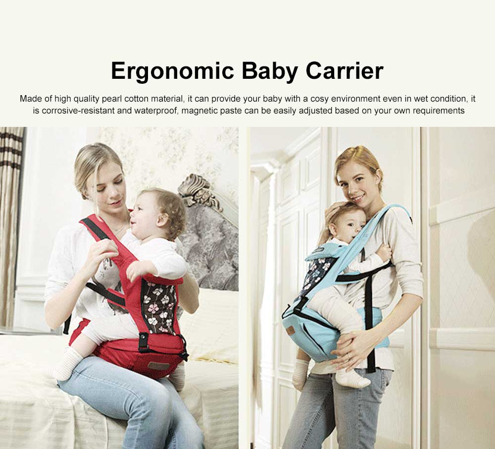 Baby Travel Gear Soft Backpacks & Carriers, Multiple Carrying Ways Practical Breathable Ergonomic Baby Carrier with Shoulder Strap 0