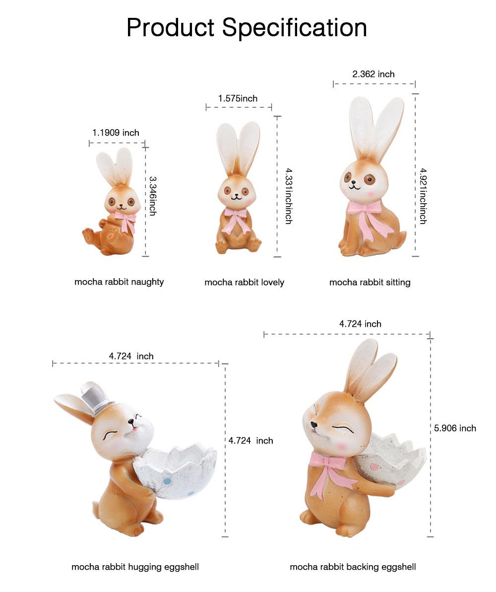 Mocha Rabbit Decorations for Home Creative Cartoon Resin-made Mocha Rabbit Lovely Decoration 6
