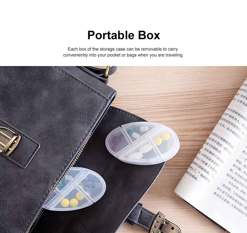 28 Day Pill Organiser, Waterproof Pill Dispenser Portable Design To Carry Vitamins Supplements And Medication For Travel Camping 4