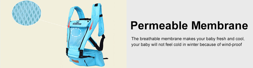 Baby Travel Gear Soft Backpacks & Carriers, Multiple Carrying Ways Practical Breathable Ergonomic Baby Carrier with Shoulder Strap 5