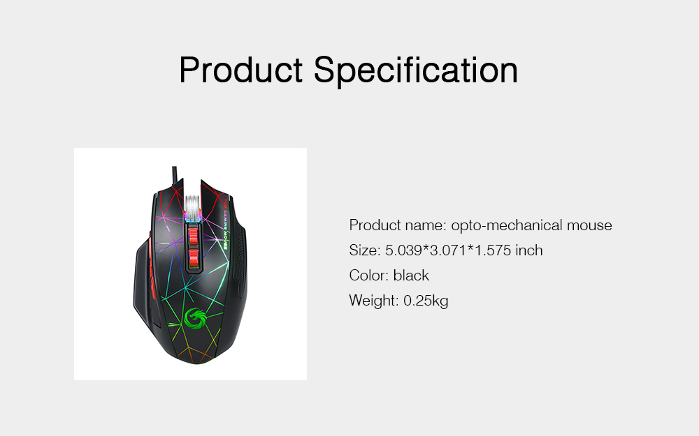 Mechanical Mouse for PUBG Game Optical Mouse Wireless Opto-mechanical Mouse Wired Mouse 8