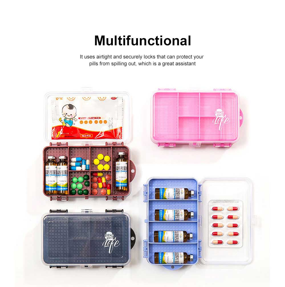 Pill Organizer Case Portable Box Small Container for Bag Travel Business Trip Excellent Weekly Pill Storage Case 1