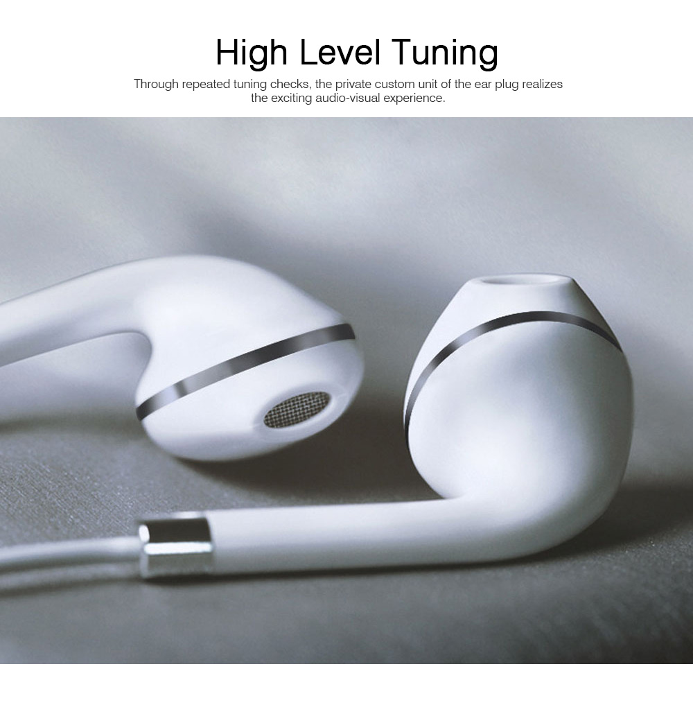 Mega Bass Earphones Universal Use for iPhone Android Computer In Ear Earphones With Mic 2