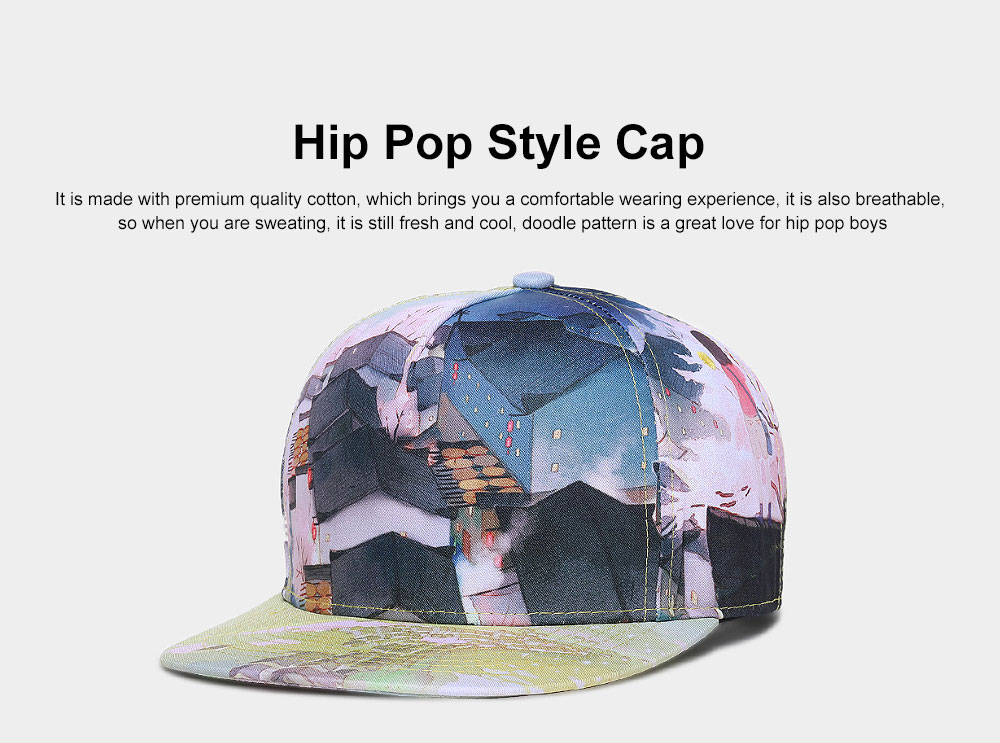 Fashionable baseball Cap with Hip Pop Style Soft Cotton Stylish Adjustable Cap for Men Women 0