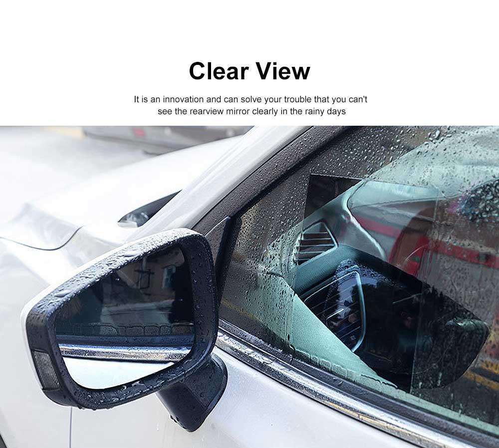 Car Rearview Mirror Protective Film Waterproof Film Anti-Fog HD Anti-Glare Clear Protective Film for Audi A3 A4L A5 A6L Q3 Q5 Q7 5