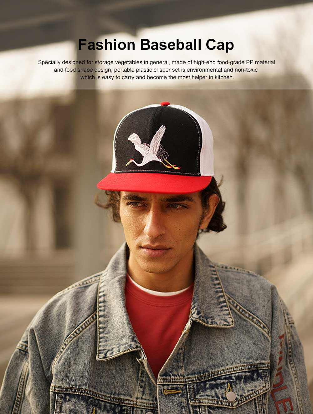 Embroidery Contrast Color Cap, Fashion Baseball Cap for Male & Female 0