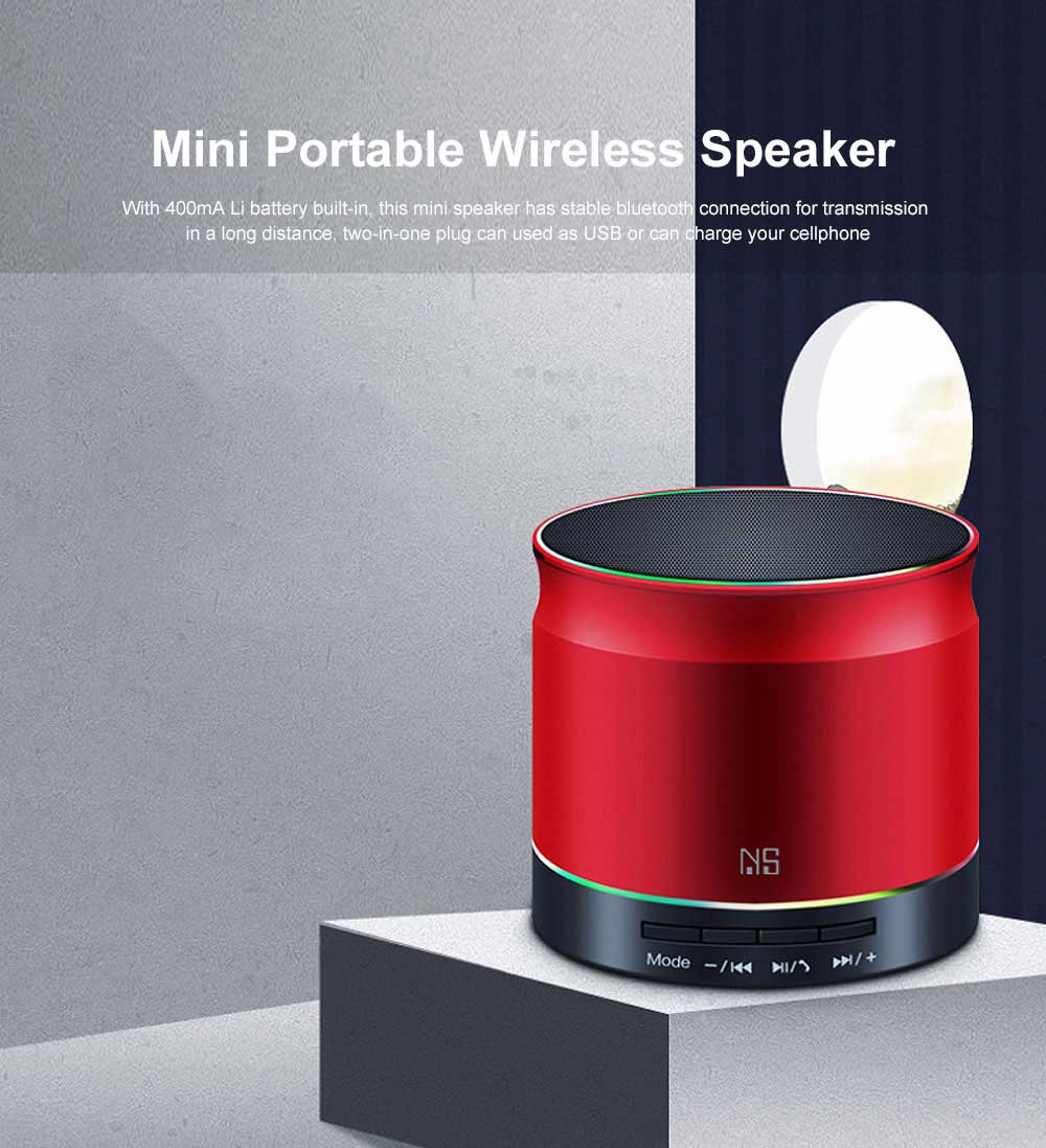 Support TF Card Bluetooth Speaker Mini Portable Wireless Speaker with Stable 4.2 Bluetooth Connection Hands Free Call 0