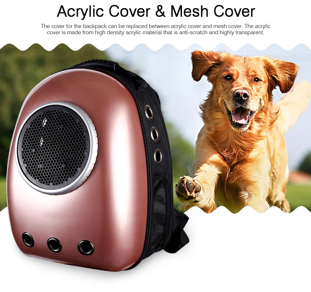 Fashionable Large Pet Backpack for Moderate and Small Size Dog and Cat, Portable Travel Pet Carrier Space Capsule Bubble Design 12