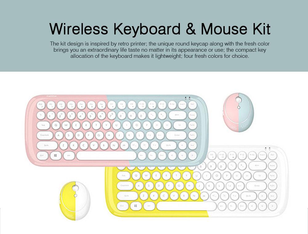 Mechanical Keyboard Kit for Computer Game Mini Keyboard Kit Mini Mouse Kit for Laptop Wireless Keyboard & Mouse Kit  0