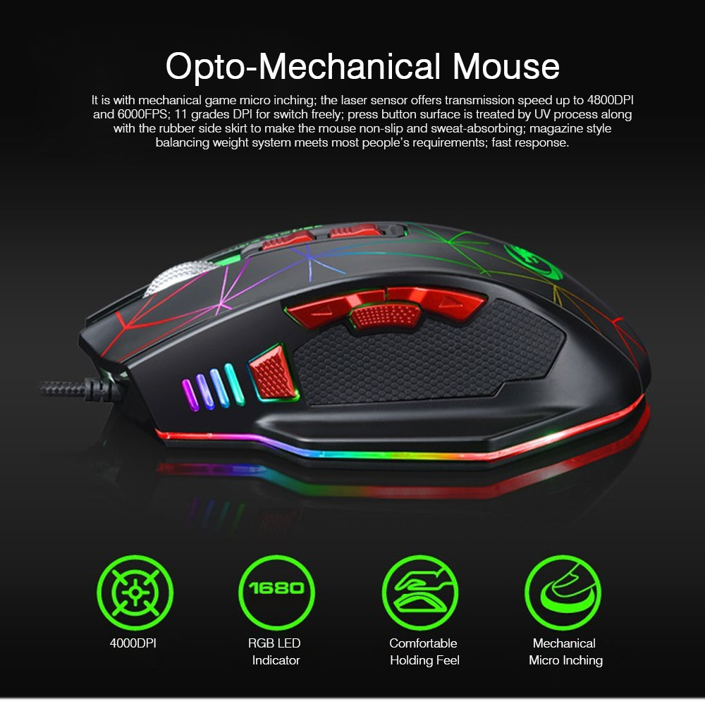 Mechanical Mouse for PUBG Game Optical Mouse Wireless Opto-mechanical Mouse Wired Mouse 0