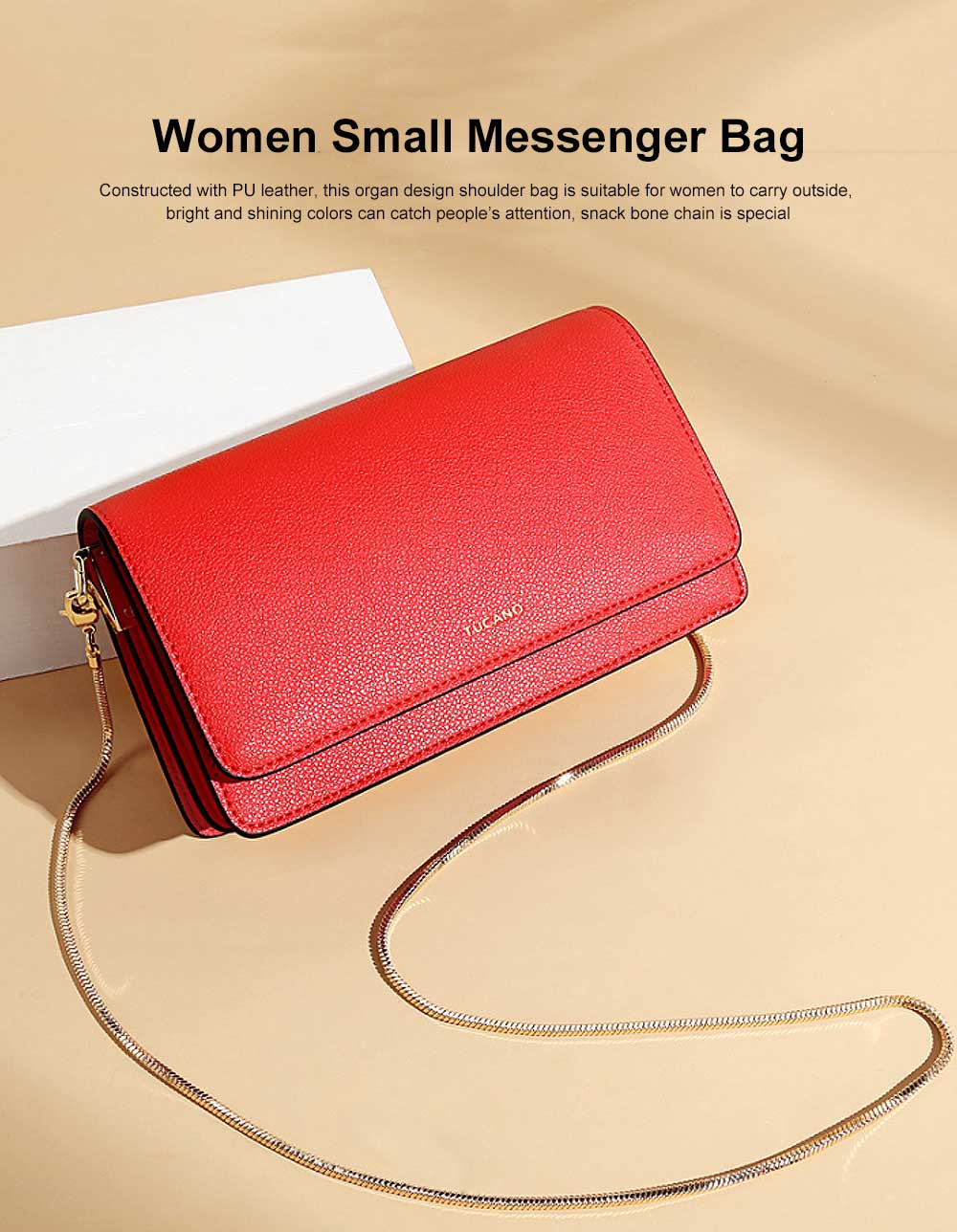 Small Messenger Bags for Women, Crossbody Bag Chain Shoulder Evening Clutch Purse Formal Bag 0