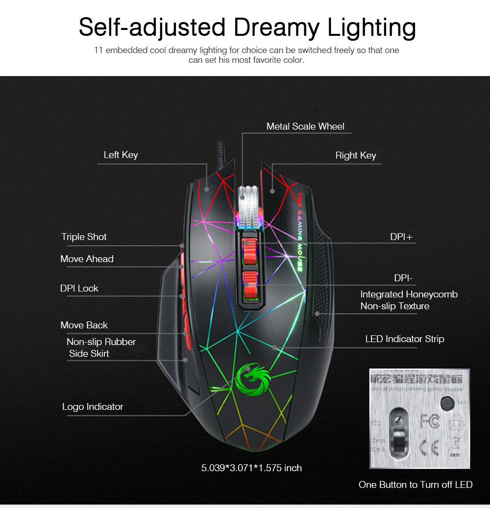 Mechanical Mouse for PUBG Game Optical Mouse Wireless Opto-mechanical Mouse Wired Mouse 7