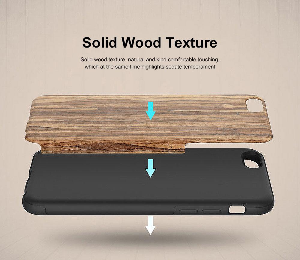 Silicone Anti-fall Phone Case, Fashion Original Phone Case, Wood-made Phone Case for iPhone XS Max, X, XS, 7 Plus, 8 Plus, 7, 8, 6, 6s, XR 1
