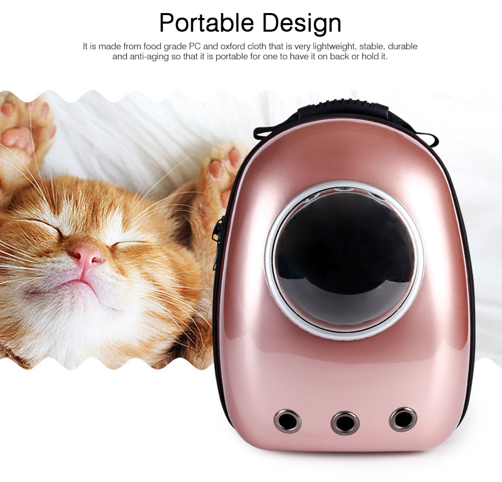 Fashionable Large Pet Backpack for Moderate and Small Size Dog and Cat, Portable Travel Pet Carrier Space Capsule Bubble Design 1