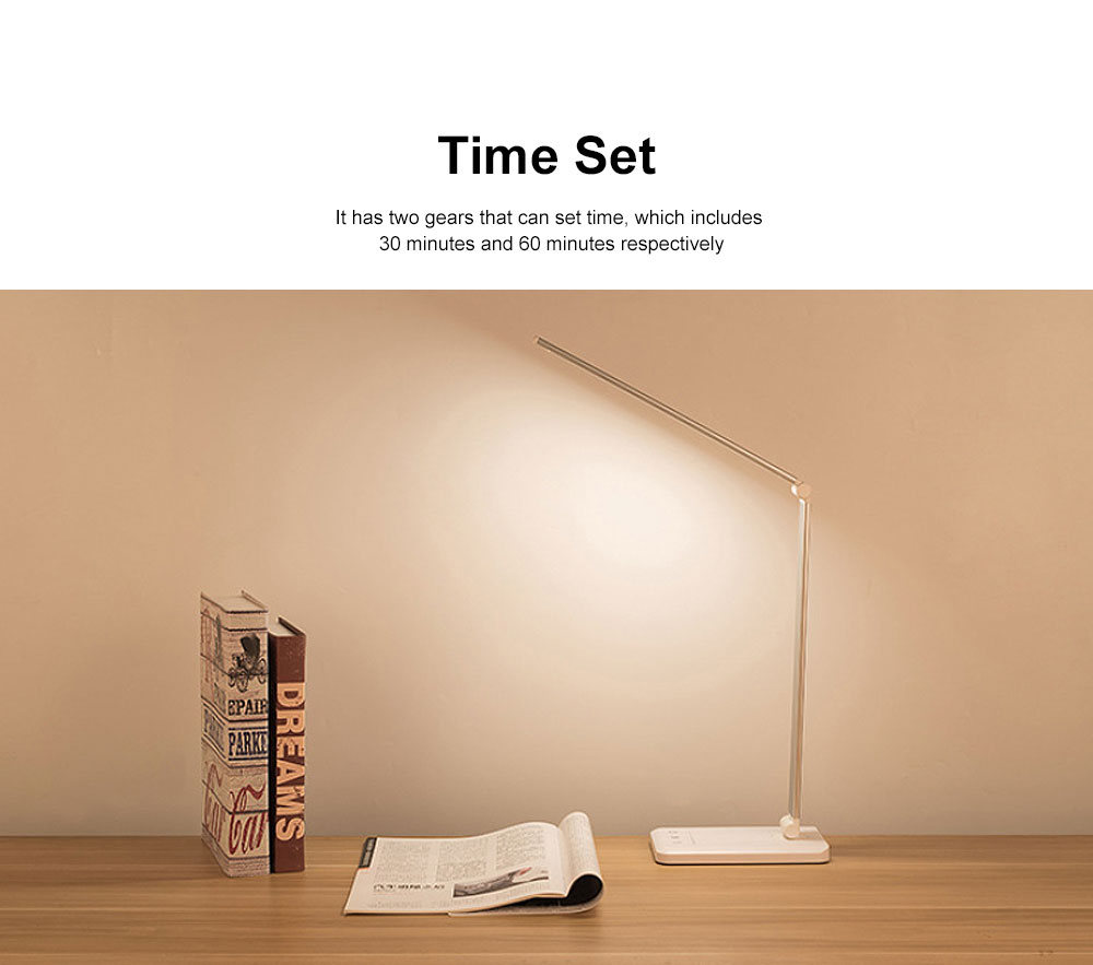 Eye Protection Desk Lamp LED Soft Light 5 Gears Adjustment Time Setting Function Minimalist Table Lamp 3