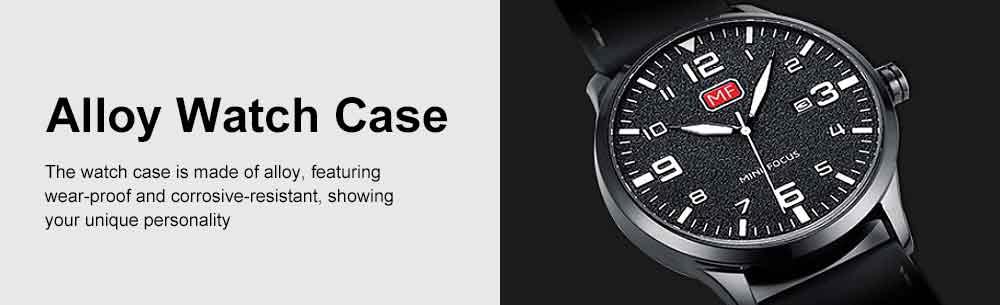 Men Super Thin Large Watch Dial Waterproof Soft Leather Quartz Watch with Calendar Date 5