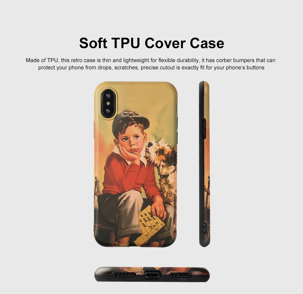 Shock Absorption Bumper Soft TPU Cover Case for iPhone 6/6s, 7p/8p, X/XS, XS Max, XR, Waterproof High Definition Printing Phone Case 0