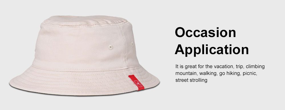 Outdoor Embroider Double Women Bucket Hat Sunscreen Stackable Cotton Hat for Fishing Hiking Climbing 5
