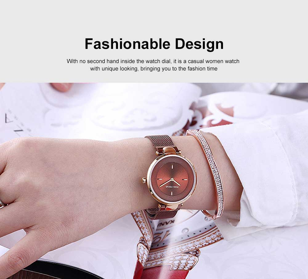 Stylish Women Wrist Watch Waterproof Lady Quartz Watch with Crystal Dial Birthday Gift 1