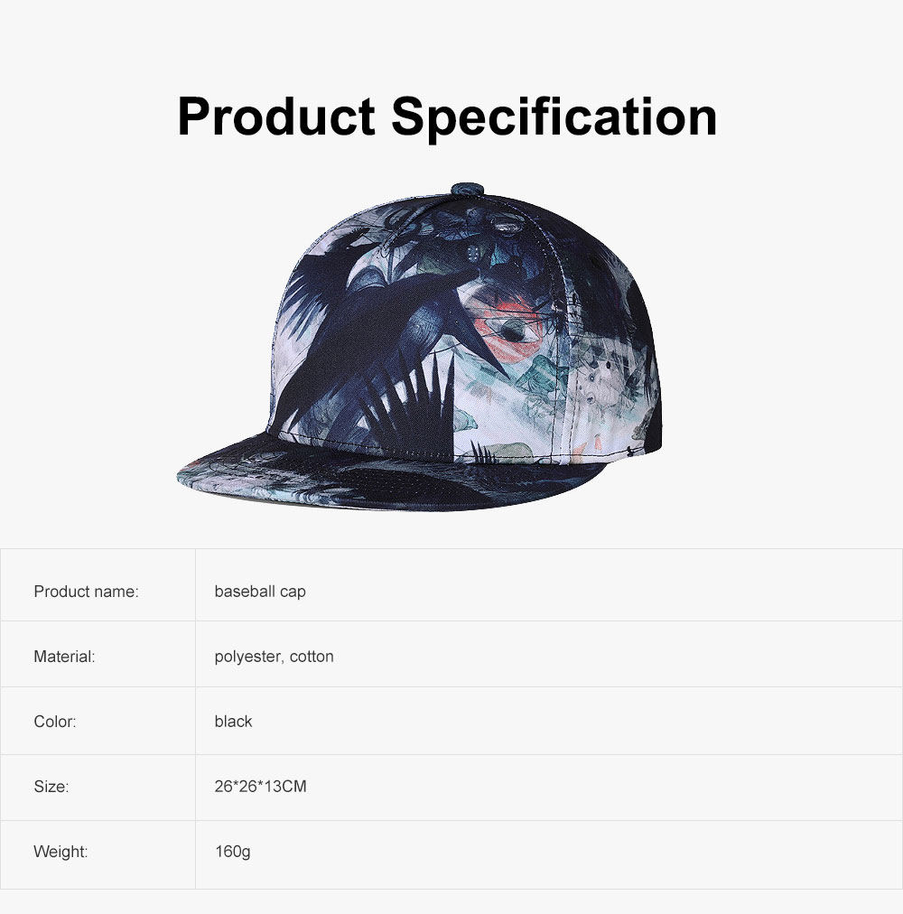 New Flat Hip Pop Style Men Cap Urban Fashionable Personalized Baseball Cap with Adjustable Strap 6
