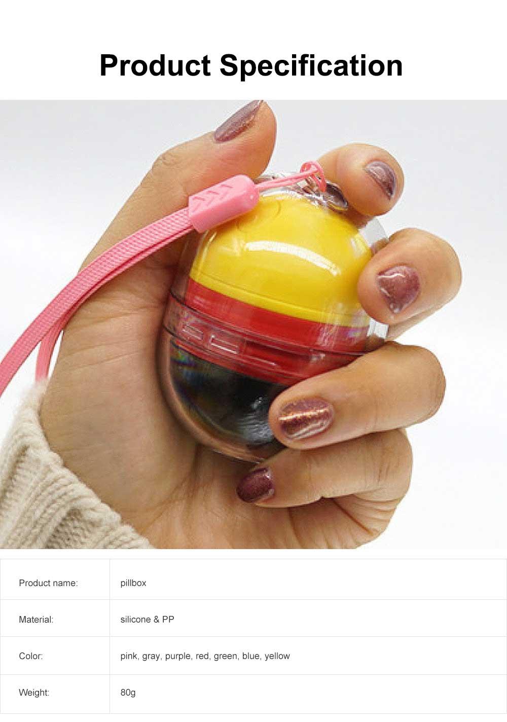 Japanese Carry-on Pillbox Capsule Shape Cute Pill Organizer Portable Pill Case for Vitamin Medicine 6