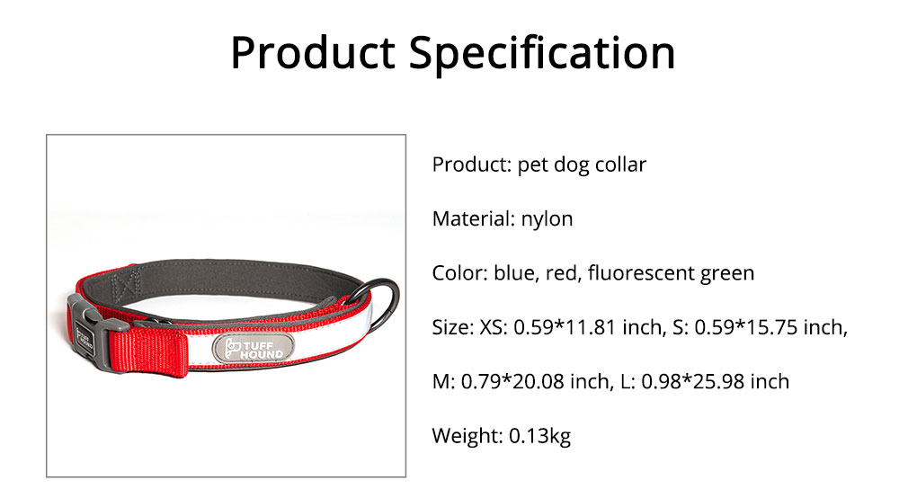 Nylon Reflect Light Pet Dog Collar Adjustable Necklace Collar for Dog Supplies Pet Dog Buckle Neck Strap 6