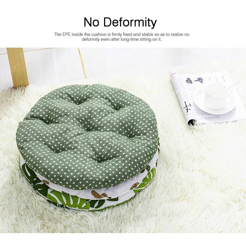 Cotton & Lien Cushion for Office Chair Round Keeping Warm Thickened Cushion for Winter Use Tatami Floor Cushion 4