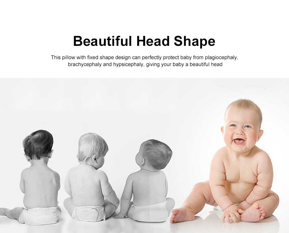 Baby Super Soft Pillow Rectangle Fixed Shape New-Born Baby Pillow Neck Head Protection 4