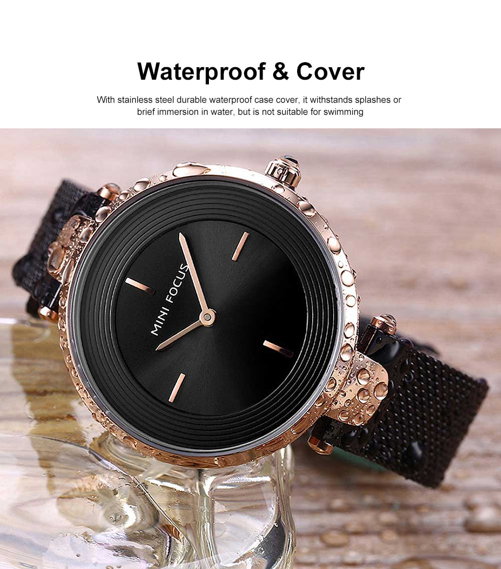 Stylish Women Wrist Watch Waterproof Lady Quartz Watch with Crystal Dial Birthday Gift 2