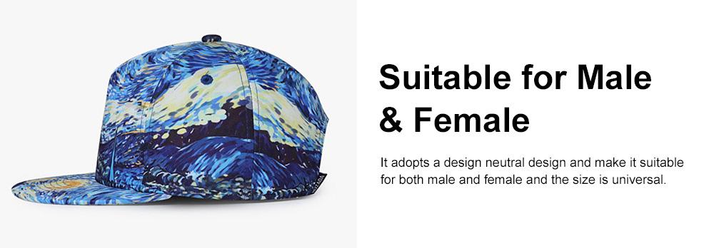 Flat-brimmed Baseball Cap, Street Dance & Hip-pop Cap, 3D-printed Cap for Male & Female 4