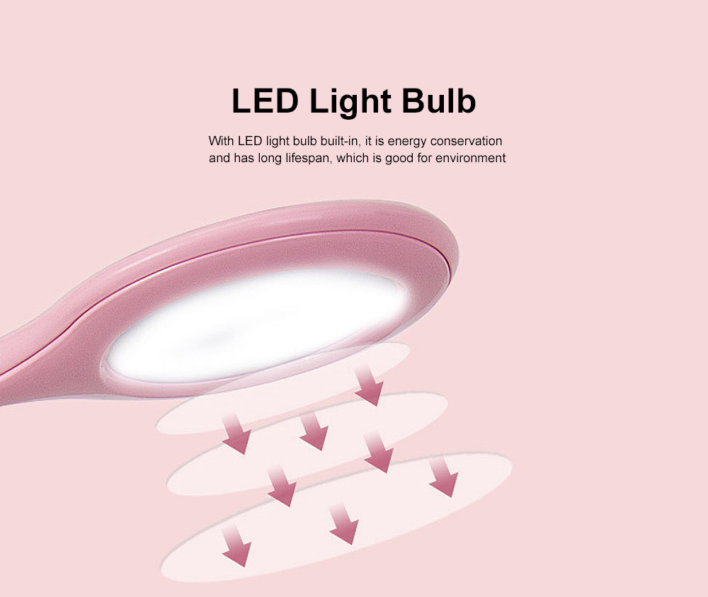 LED Light Table Lamp Minimalist Modern Rechargeable Pen Lamp Eye Protection Lamp with Anti-Slip Mat 2
