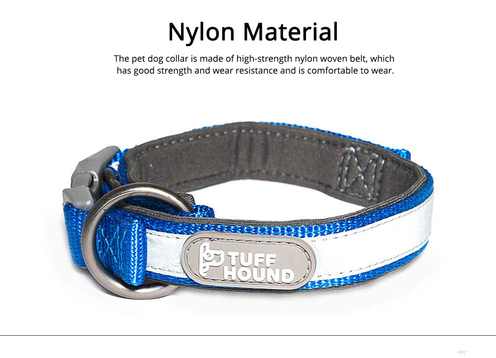 Nylon Reflect Light Pet Dog Collar Adjustable Necklace Collar for Dog Supplies Pet Dog Buckle Neck Strap 1