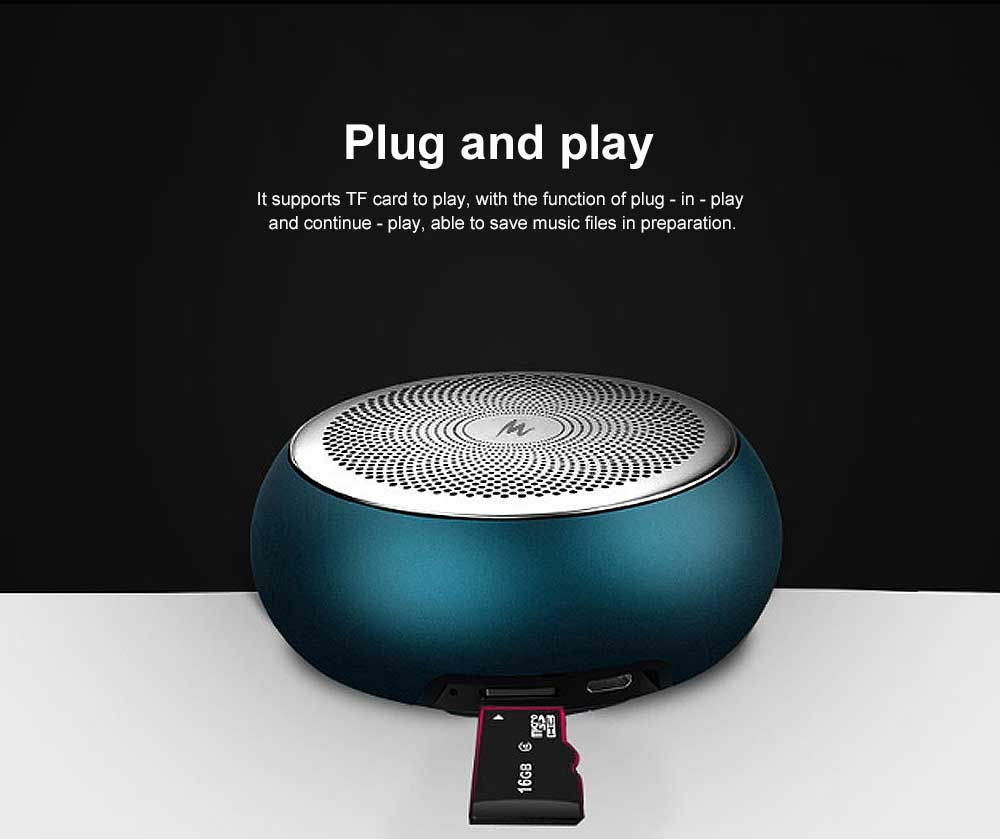 Bluetooth Subwoofer Household Mini Sound Box, Portable Wireless Bluetooth Speaker Sound Box Support TF Card AUX MP3 Wav APE Flac 5