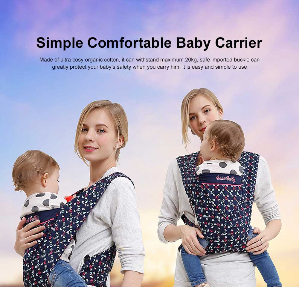 Simple Comfortable Baby Carrier Multiple Carrying Ways Natural Breathable Soft Carriers 0