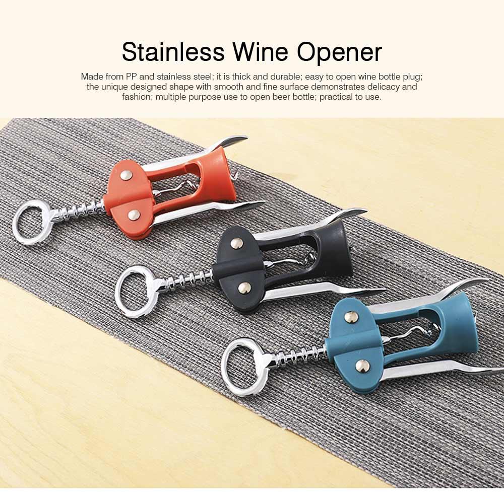 Multipurpose Wine Opener Battery Operated Stainless Beer Opener Household Gadget 0