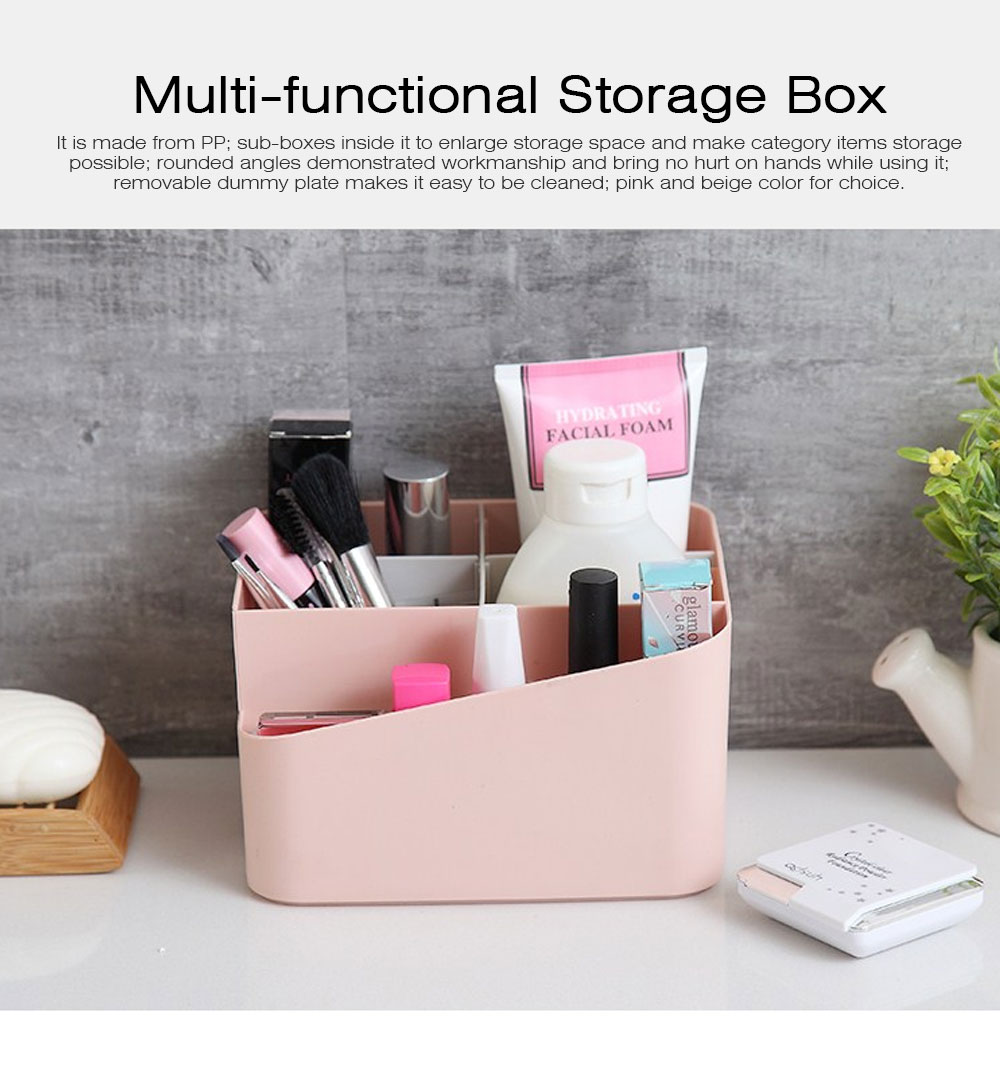 Household Multifunctional Sundries Storage Box, Small Size Desktop Organizer Box with Lid 0
