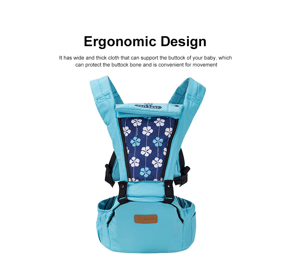 Baby Travel Gear Soft Backpacks & Carriers, Multiple Carrying Ways Practical Breathable Ergonomic Baby Carrier with Shoulder Strap 1