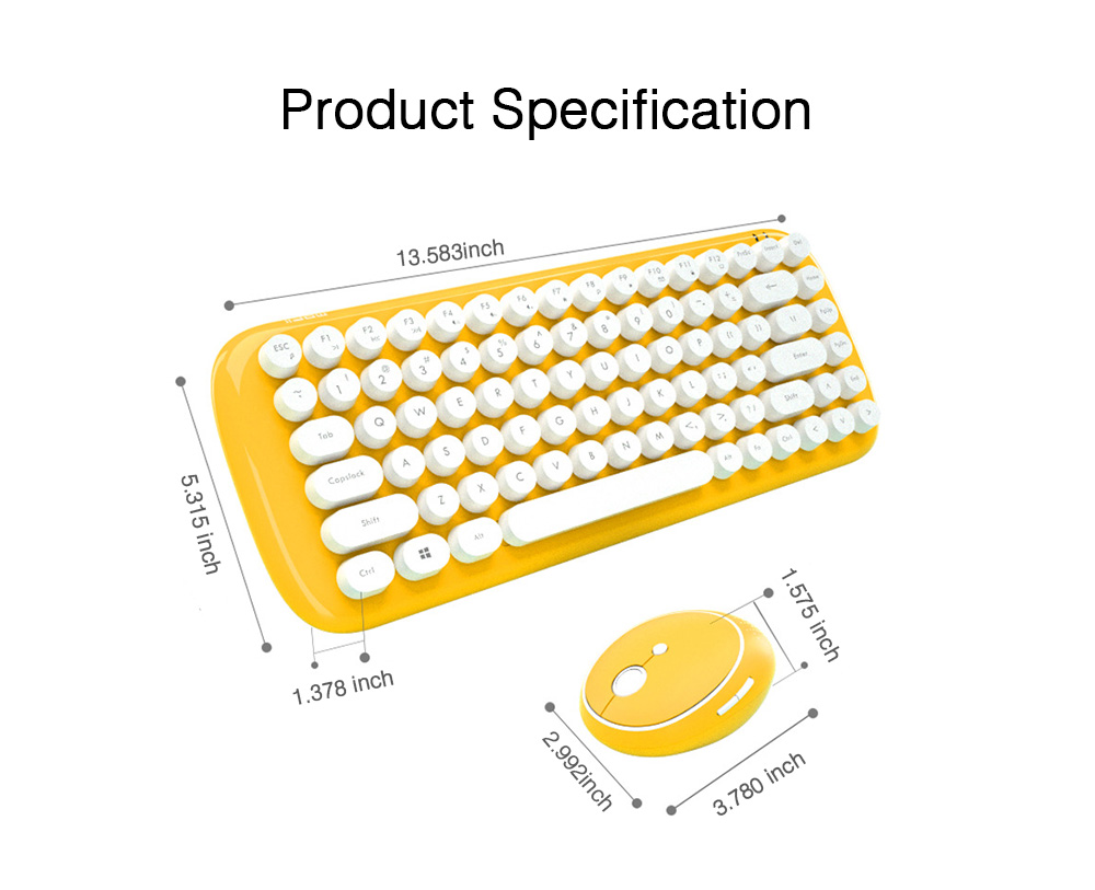 Mechanical Keyboard Kit for Computer Game Mini Keyboard Kit Mini Mouse Kit for Laptop Wireless Keyboard & Mouse Kit  7