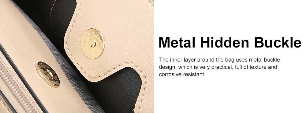 New Women Elegant Handbag Stylish Color Checkered Cloth Joint Spacious Shoulder Bag 4