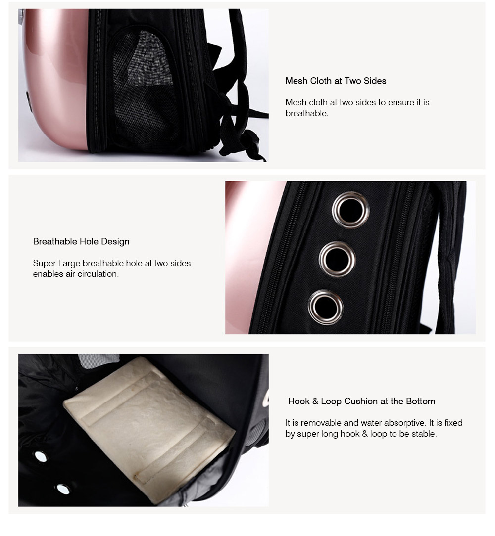 Fashionable Large Pet Backpack for Moderate and Small Size Dog and Cat, Portable Travel Pet Carrier Space Capsule Bubble Design 14
